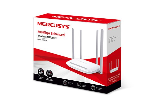 Router  300mbps 4 Anterna Wifi Mercusys